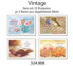 Postkartenserie Vintage neutral, 12 Stück