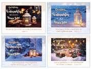 Kleinkärtchenserie Weihnachtslaternen, 12 Stück