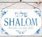 Holzschild groß - Shalom