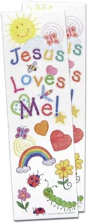 """Kinder-Lesezeichen """"Jesus loves me"""" - 10er Set"""