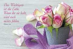 Faltkarte: Das Wichtigste ist die Liebe - Geburtstag