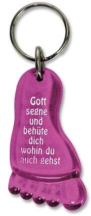 """Schlüsselanhänger """"Fuß"""" - pink"""